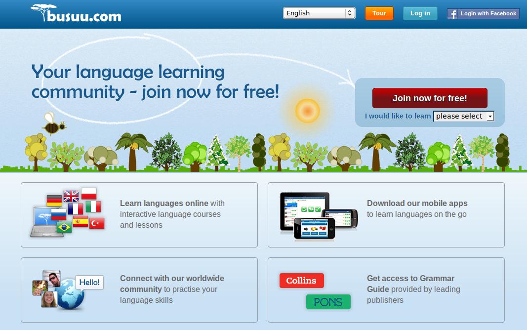 Busuu.com Busuu Social Language Exchange Partner Community plus Multimedia Photo-Audio Lesson Archives and Video Chat Interface