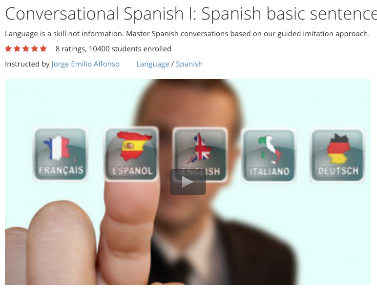 Free Video Course: Basic Conversational Spanish Sentence Patterns