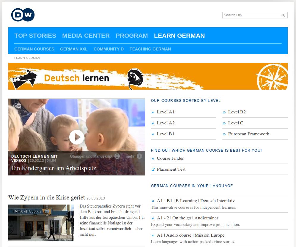 Deutche Welle's Free German Course Online