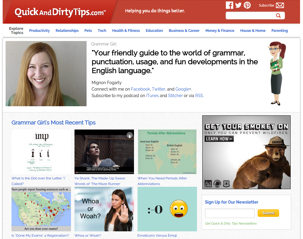 Grammar Girl Podcast: Free English Grammar and Punctuation Podcast
