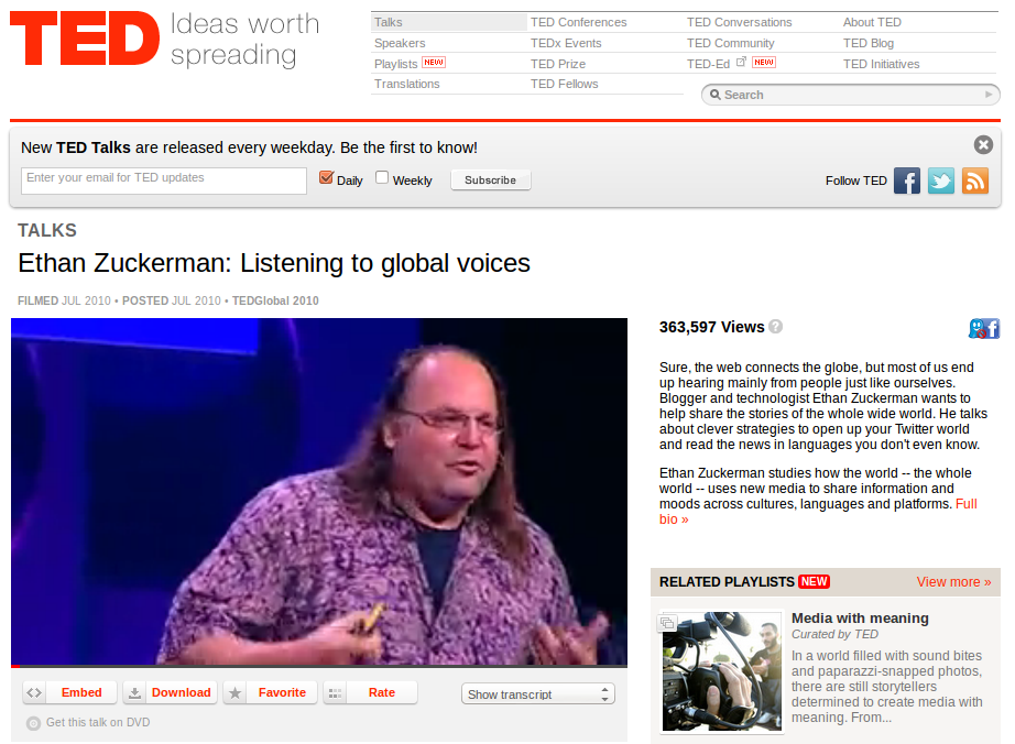 Ethan Zuckerman on Language and Global Voices