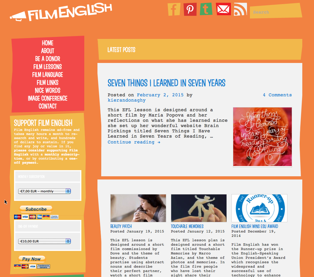 Complete Lesson Plans to Learn and Teach English through Films (Movies)
