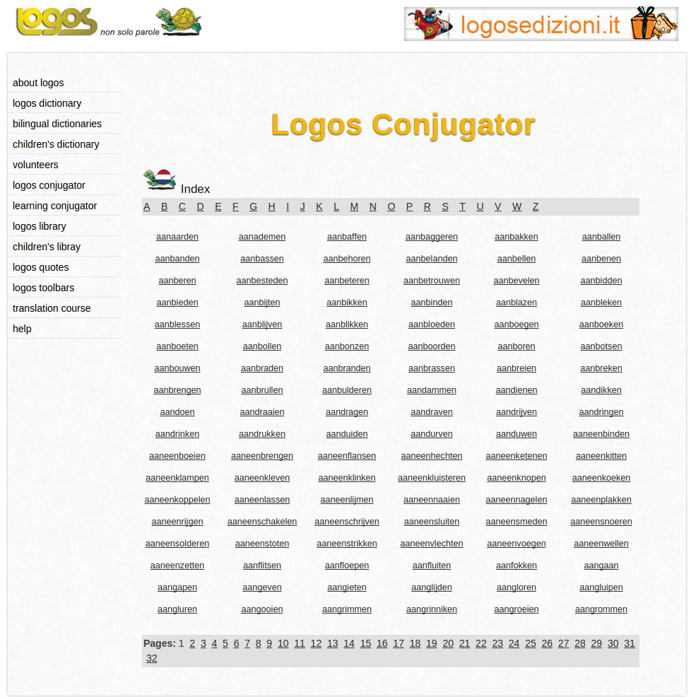 Free Online Dutch Verb Conjugation and Learning Conjugator