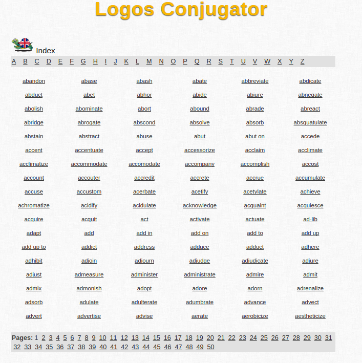 Free Online English Verb Conjugation and Learning Conjugator