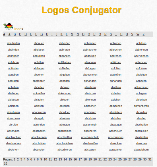Free Online German Verb Conjugation and Learning Conjugator