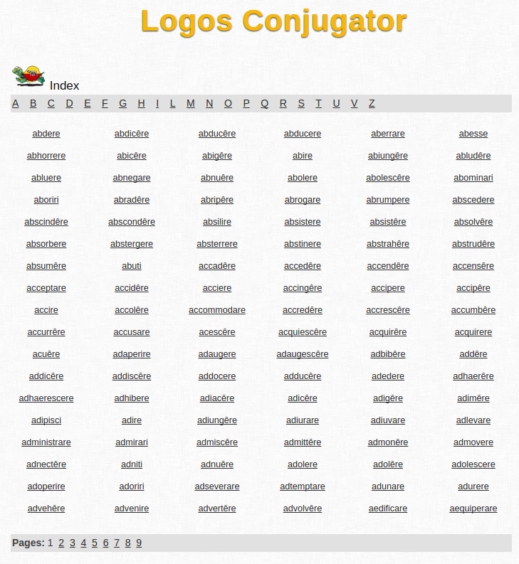 Free Online Latin Verb Conjugation and Learning Conjugator