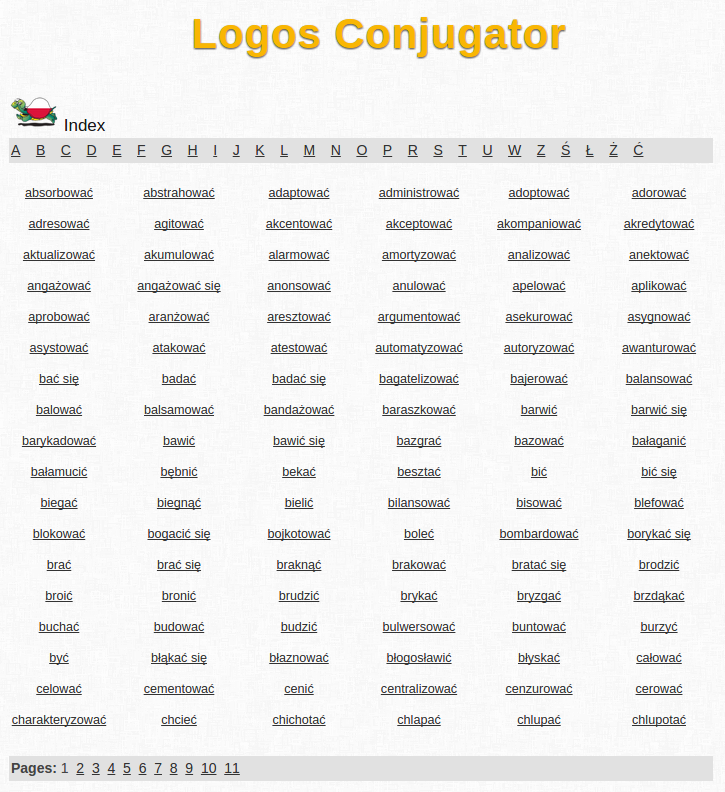 Free Online Polish Verb Conjugation and Learning Conjugator