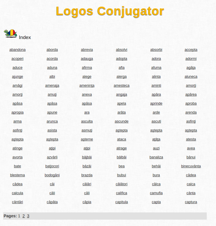 Free Online Romanian Verb Conjugation and Learning Conjugator