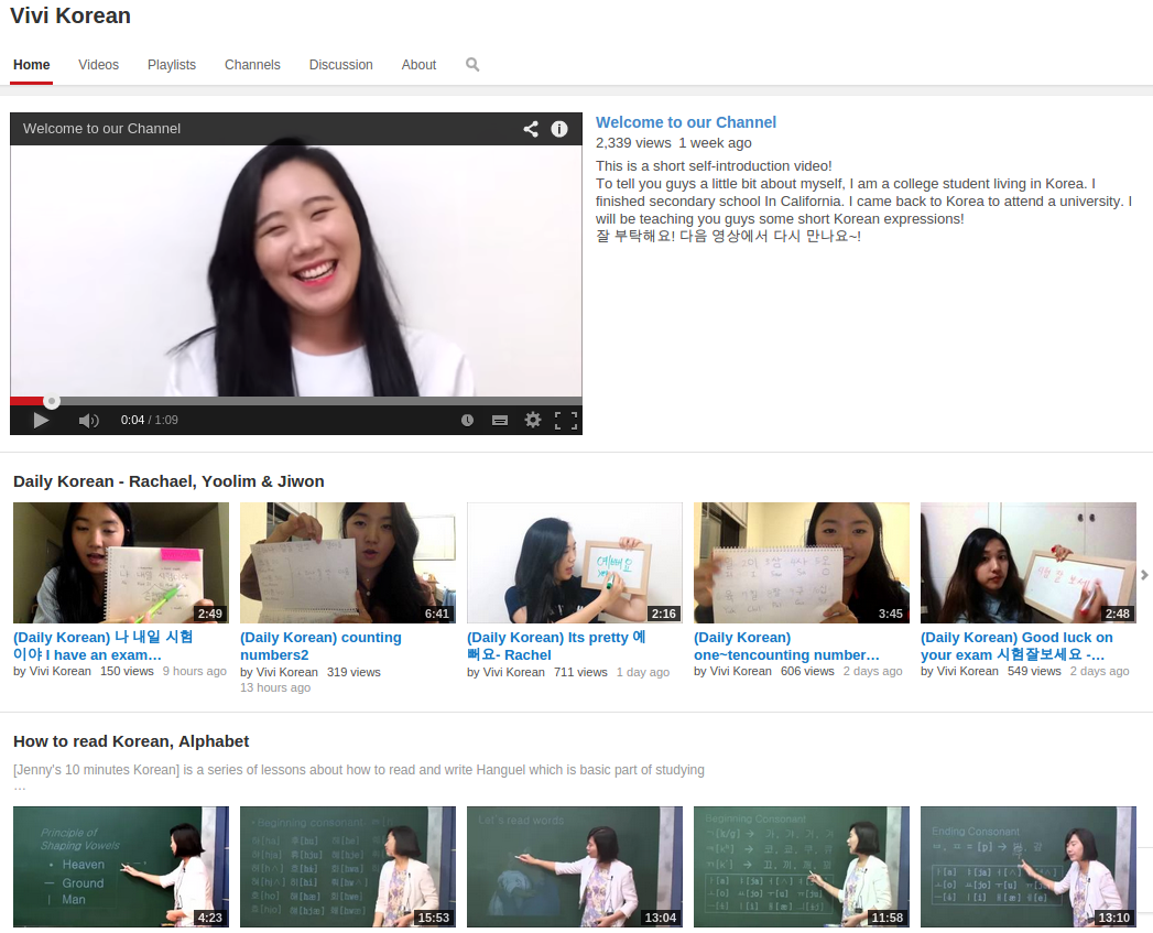 Free Korean Video Courses: Learn Korean Alphabet (Hangul), How to Read Korean, Basic Korean Course, TOPIK Test Prep