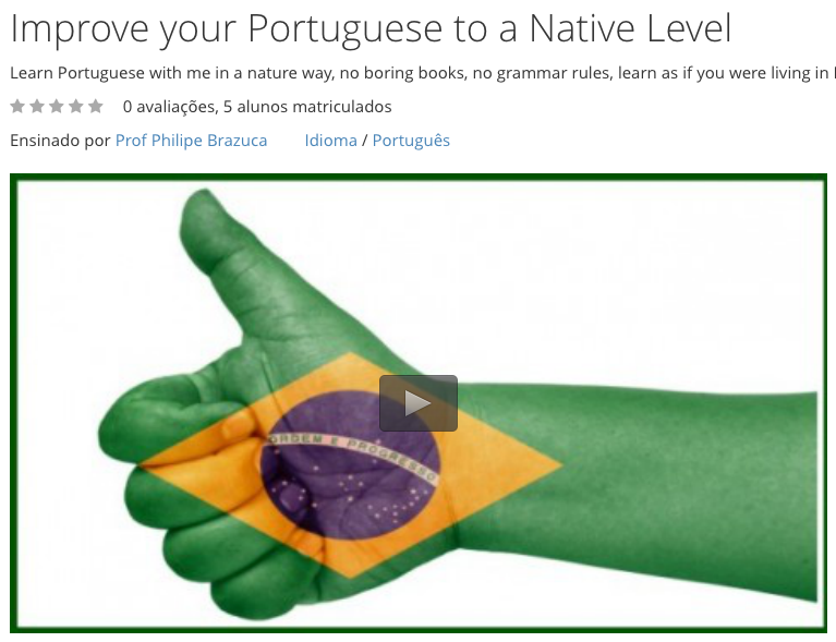 Free Video Course: Improve your Portuguese to a Native Level