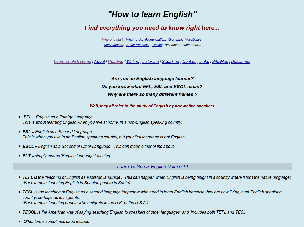 KAYContinental Free Downloadable English Lessons and Exercises