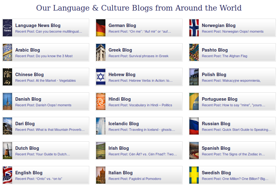 Language and Culture Blogs from Across the Globe
