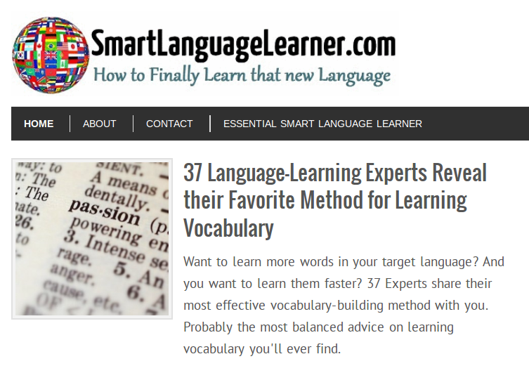 Expert Language Learners Share their Secrets to Learning Vocabulary