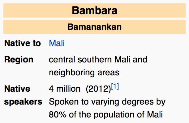 Learn about the Bambara Language