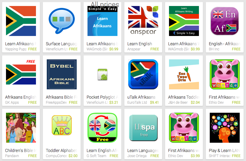 Learn Afrikaans with Android Apps | Free Language