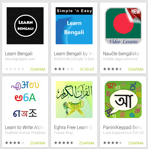 Learn Bengali with Android Apps