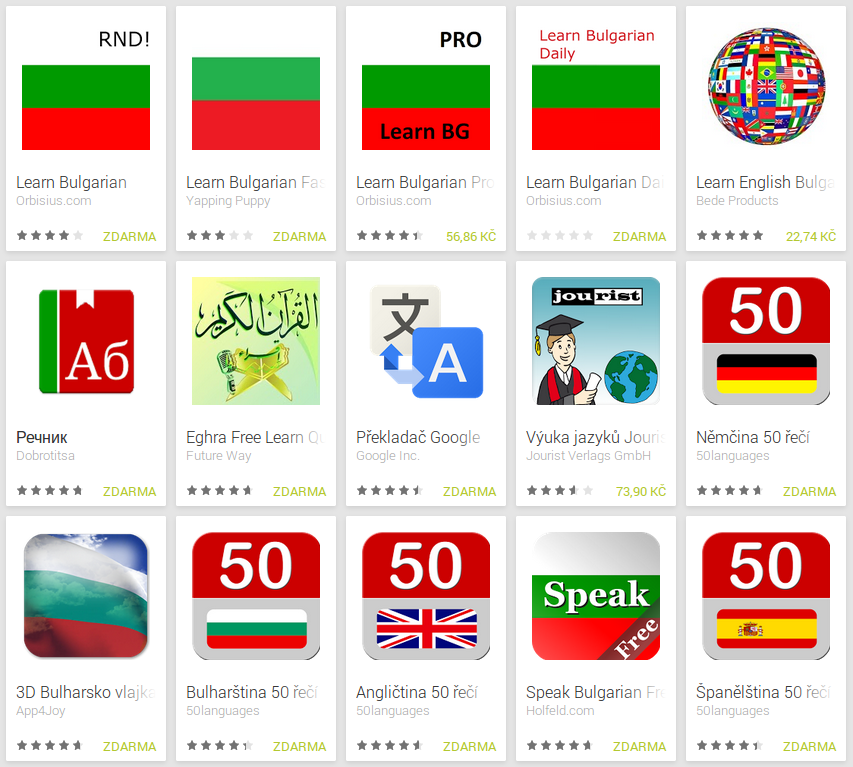 Learn Bulgarian with Android Apps