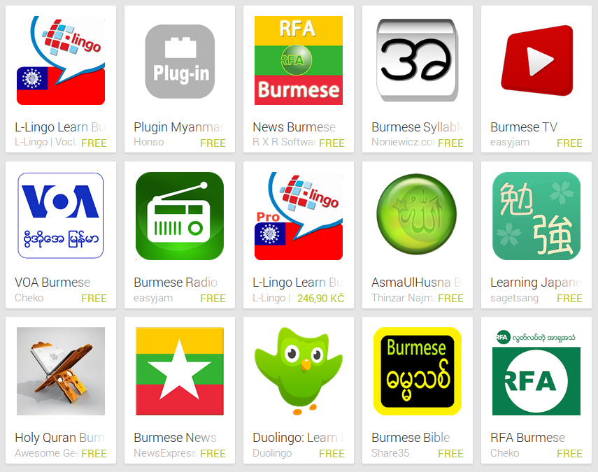 Learn Burmese with Android Apps