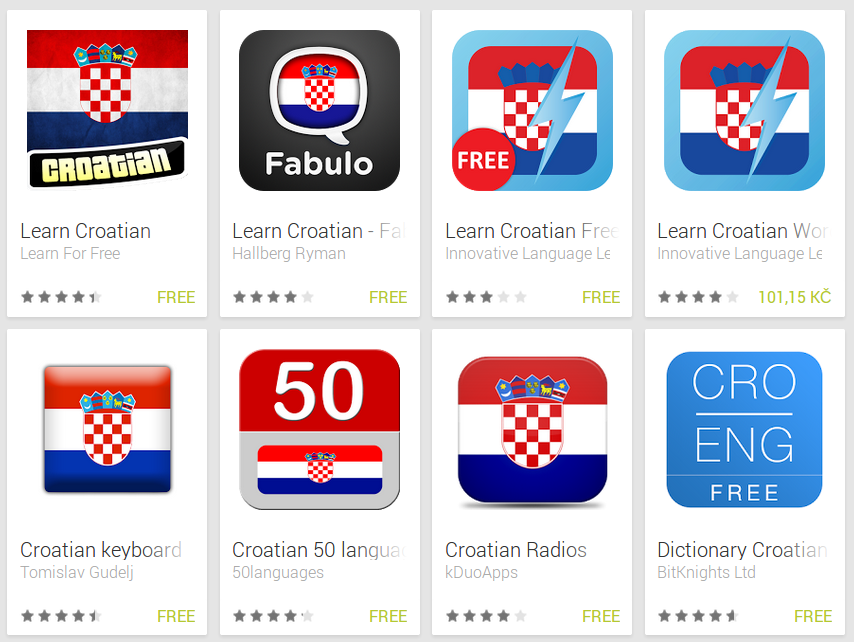 Learn Croatian with Android Apps