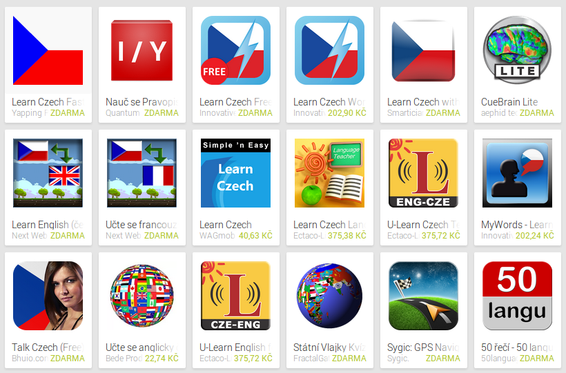 Learn Czech with Android Apps