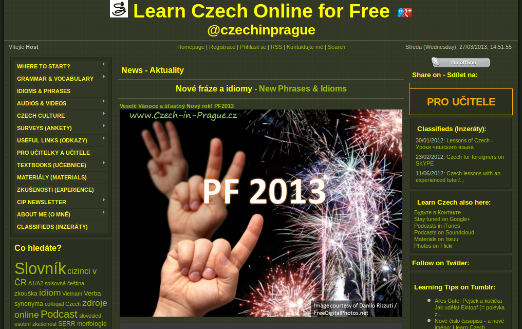 "Learn ""Czech in Prague"" Online for Free"