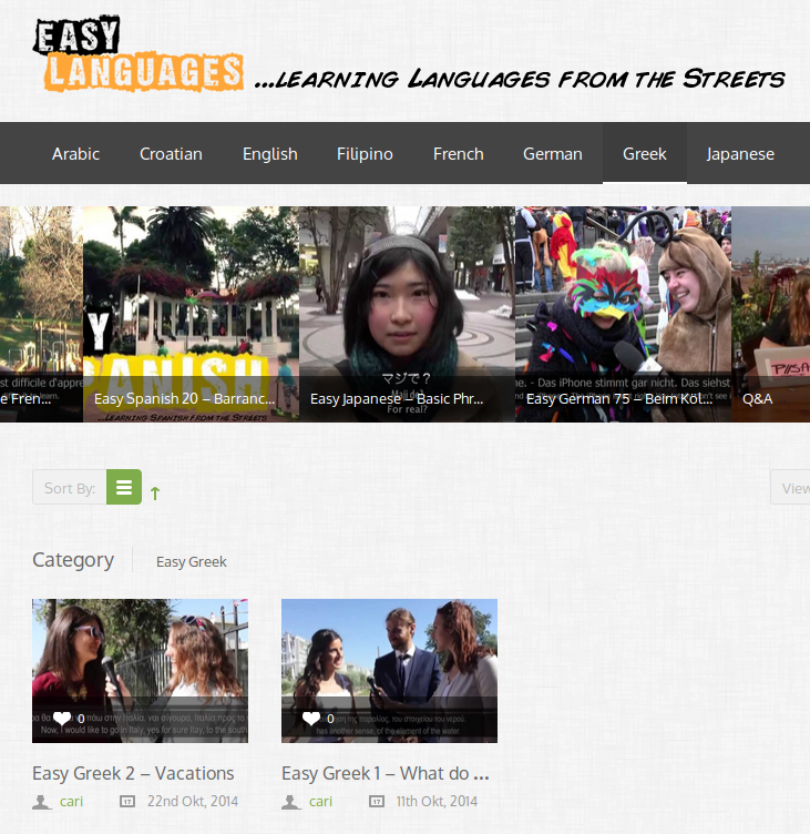 "Free ""Real Life"" Greek Language Learning Videos with Bilingual Subtitles (English and Greek)"