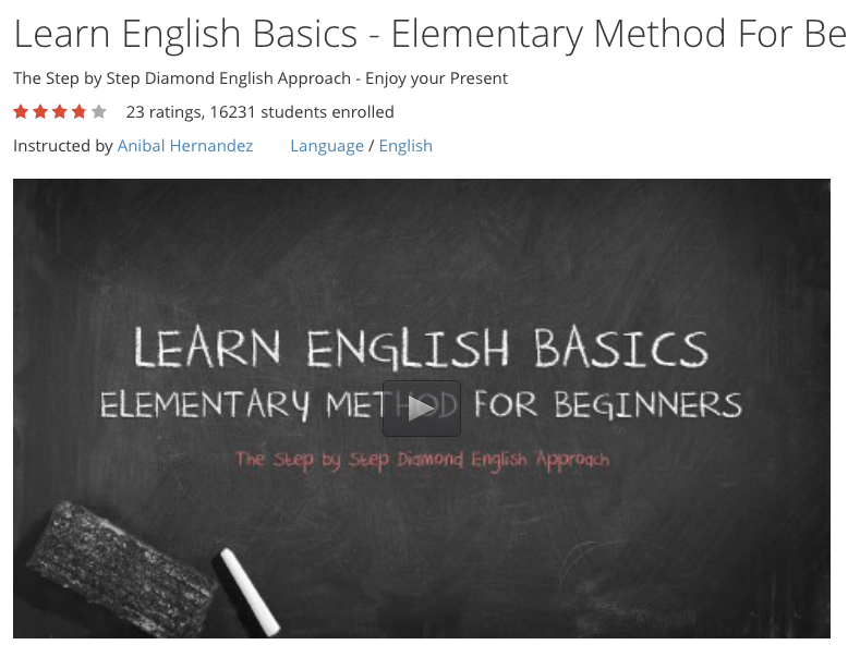 Free Video Course: Learn English Elementary Method For Beginners