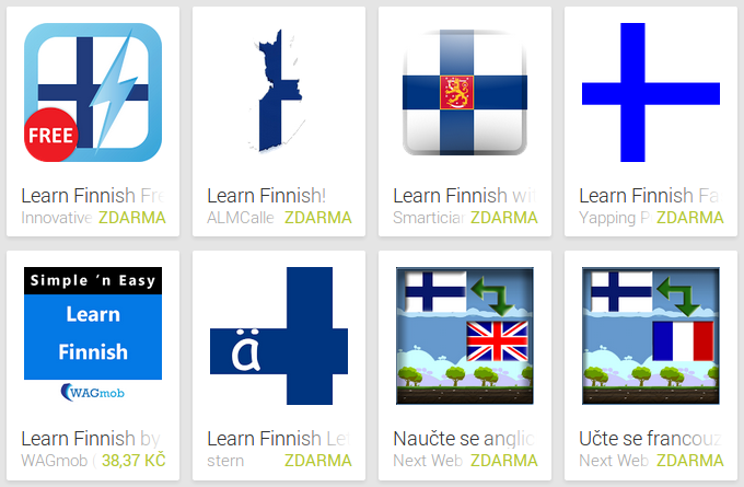 Learn Finnish with Android Apps