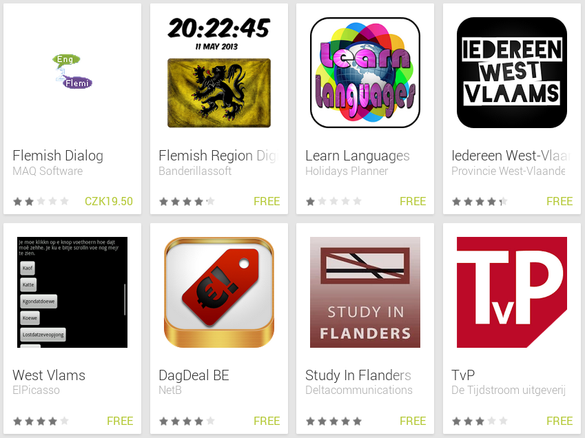 Learn Flemish with Android Apps