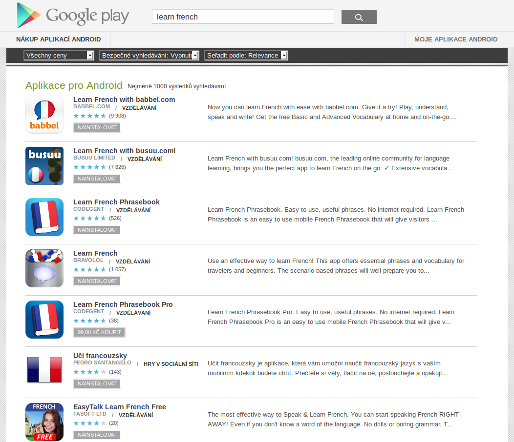 Learn French with Android Apps