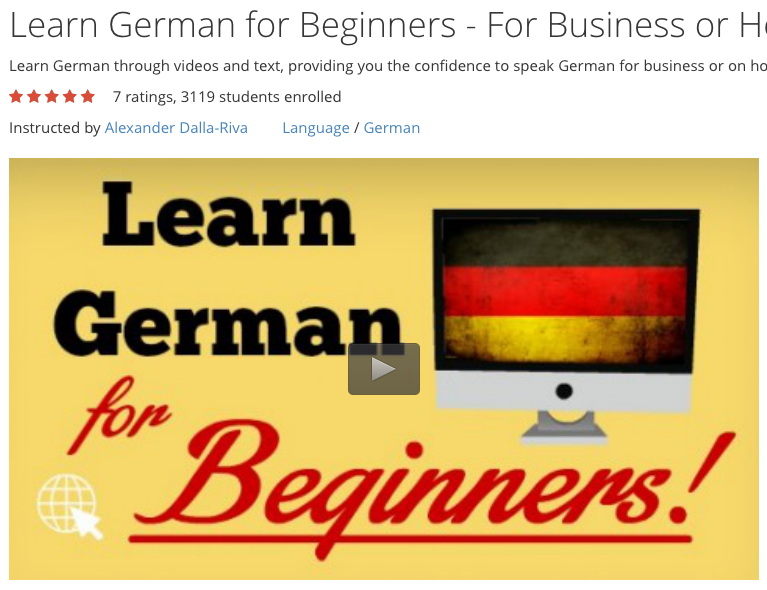 Learn Beginner German for Business + Holidays