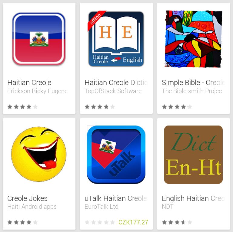 Learn Haitian Creole with Android Apps