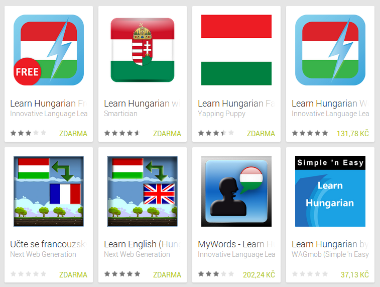 Learn Hungarian with Android Apps