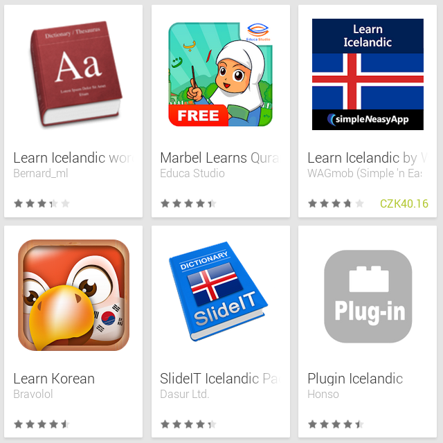 Learn Icelandic with Android Apps