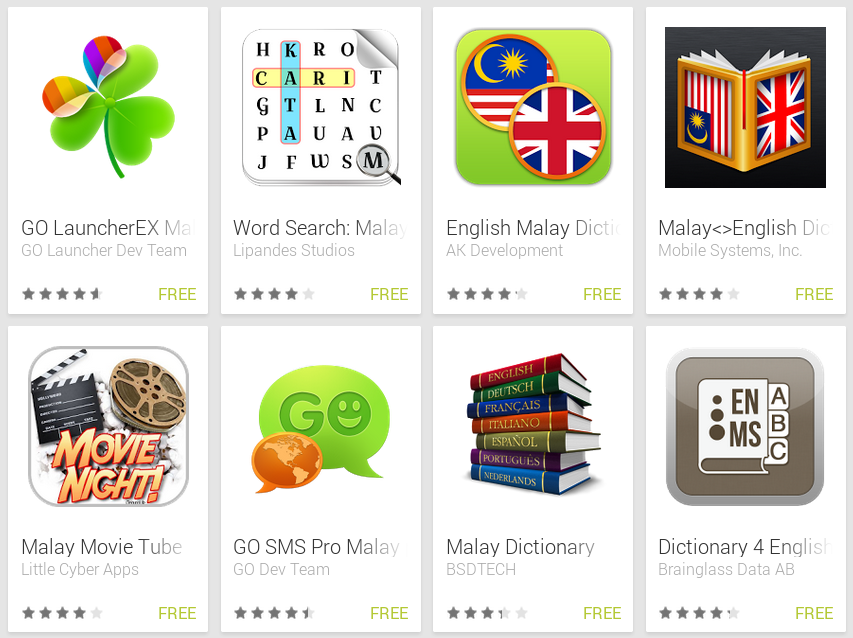 Learn Malay with Android Apps