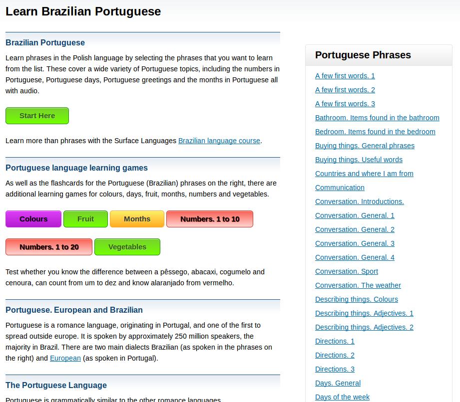 Free brazilian portuguese audio phrasebook games and mobile apps free brazilian portuguese audio phrasebook games and mobile apps android ios to learn basic brazilian portuguese for travel and living m4hsunfo