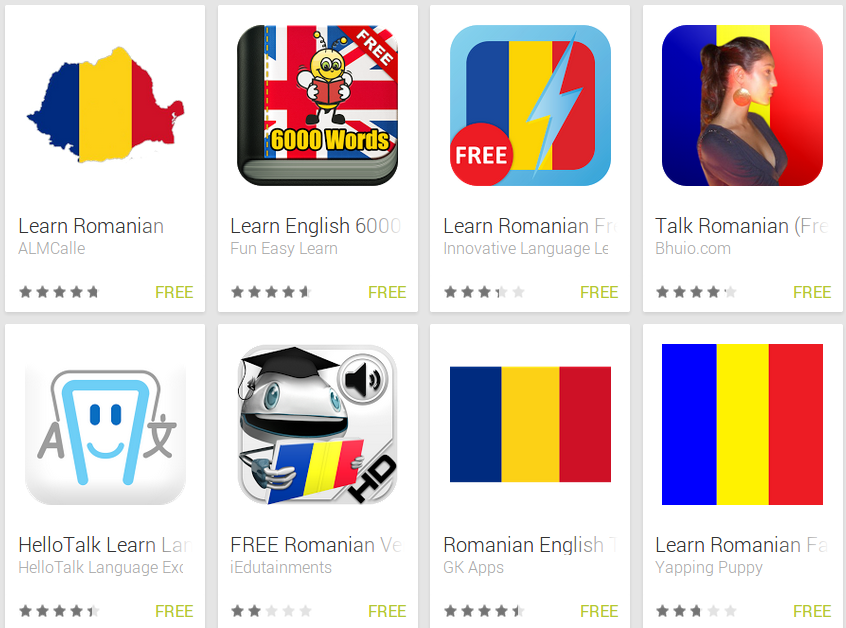 Learn Romanian with Android Apps