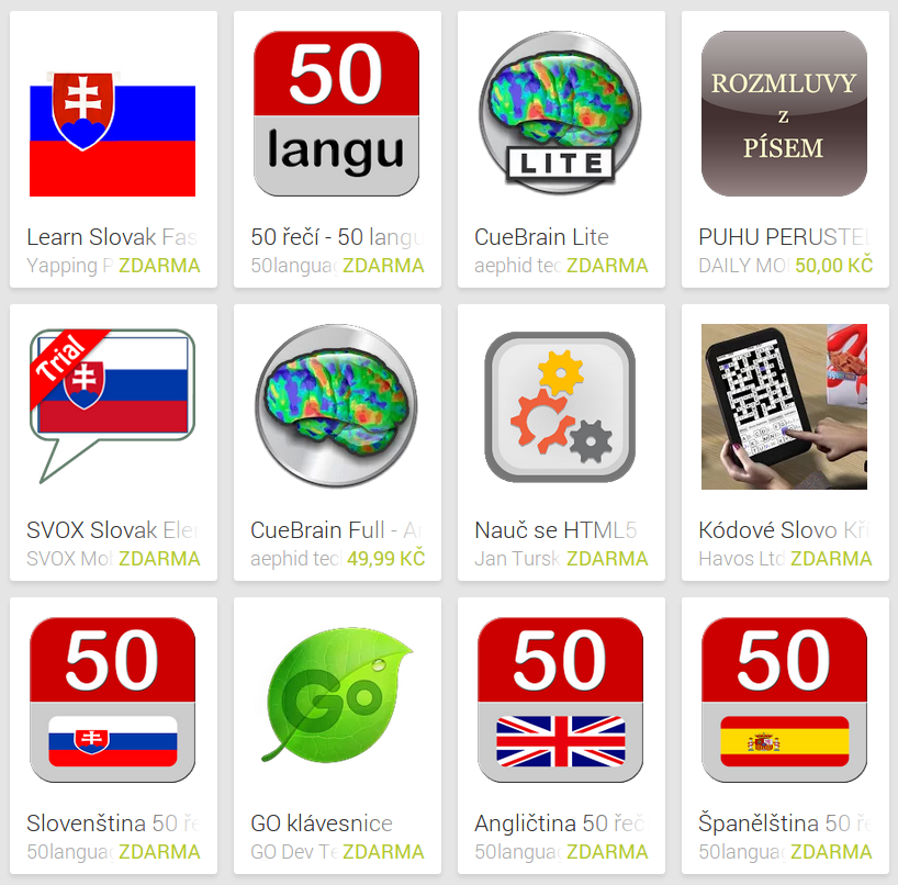 Learn Slovak with Android Apps