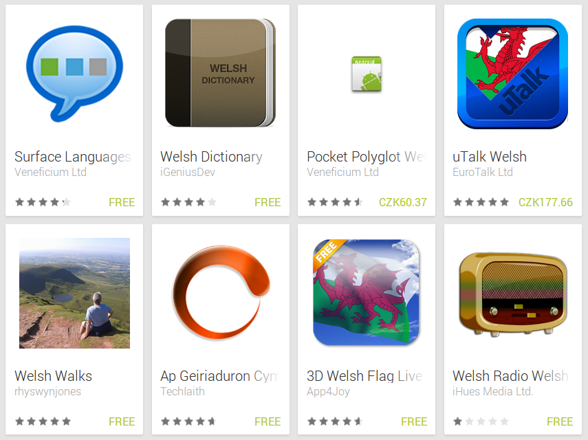 Learn Welsh with Android Apps