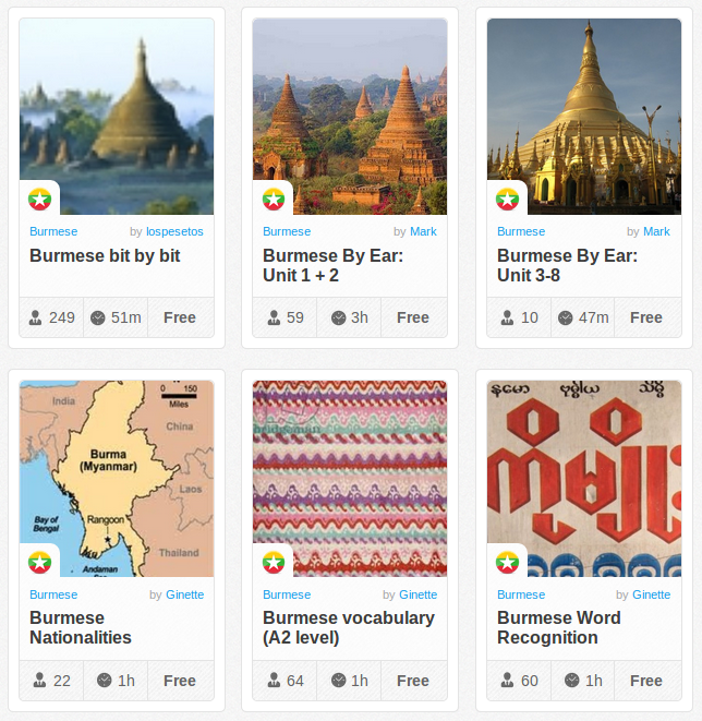 Memrise Merges Science, Fun and Community to Help Learn Burmese Online for Free (+ App)