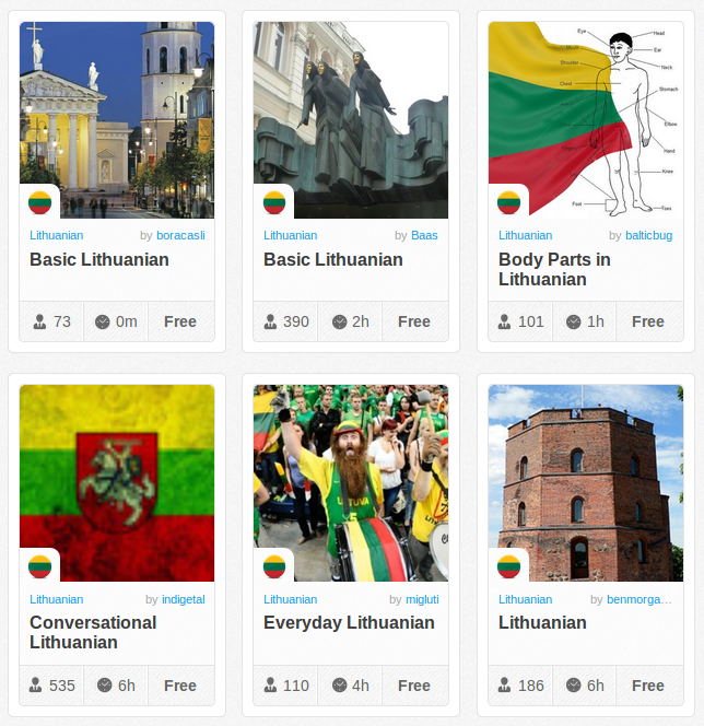 Memrise Merges Science, Fun and Community to Help Learn Lithuanian Online for Free (+ App)
