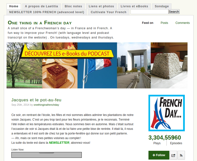 One Thing in French a Day Podcast: French Life, Food, Culture & More