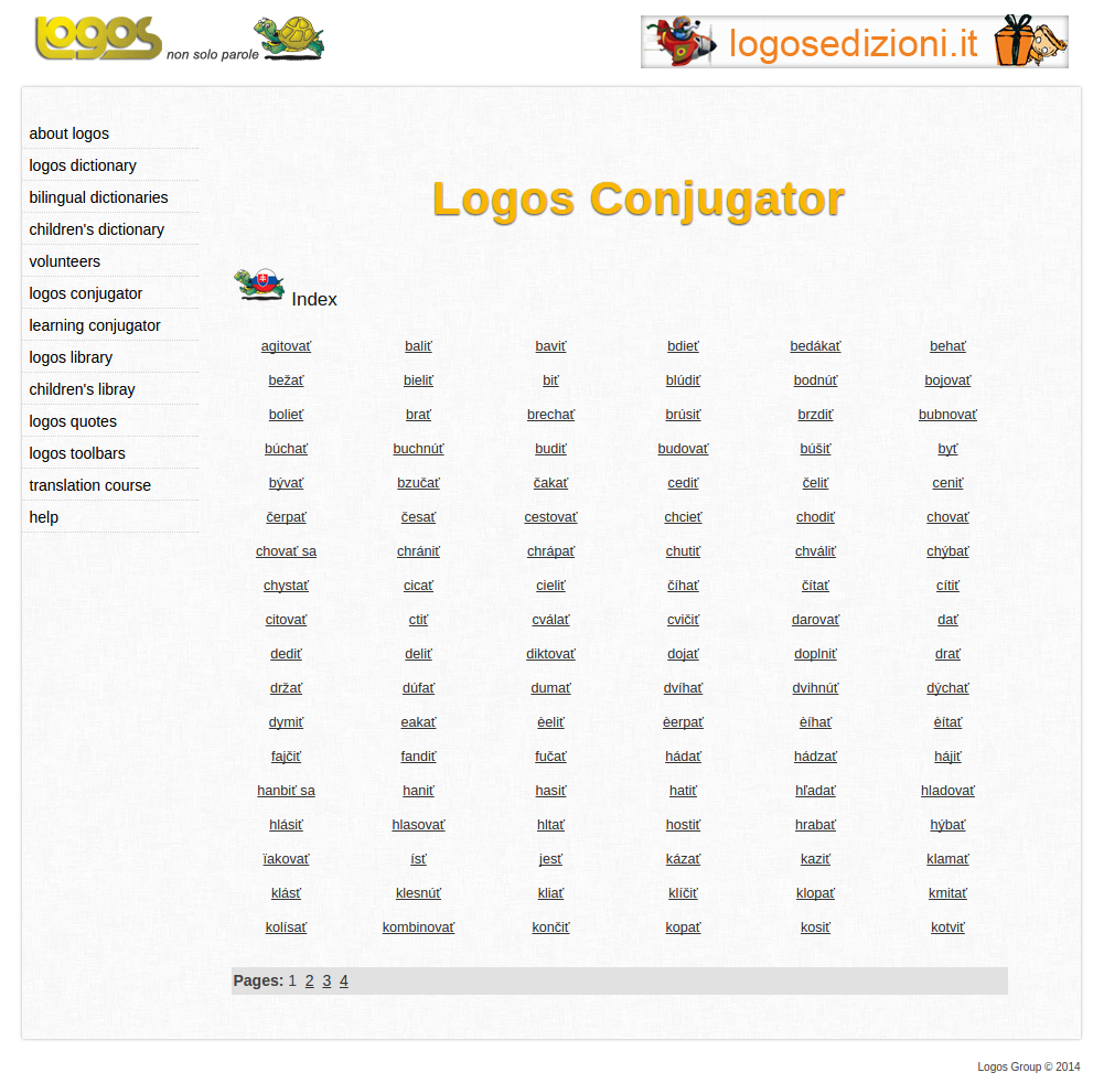 Free Online Slovak Verb Conjugation and Learning Conjugator