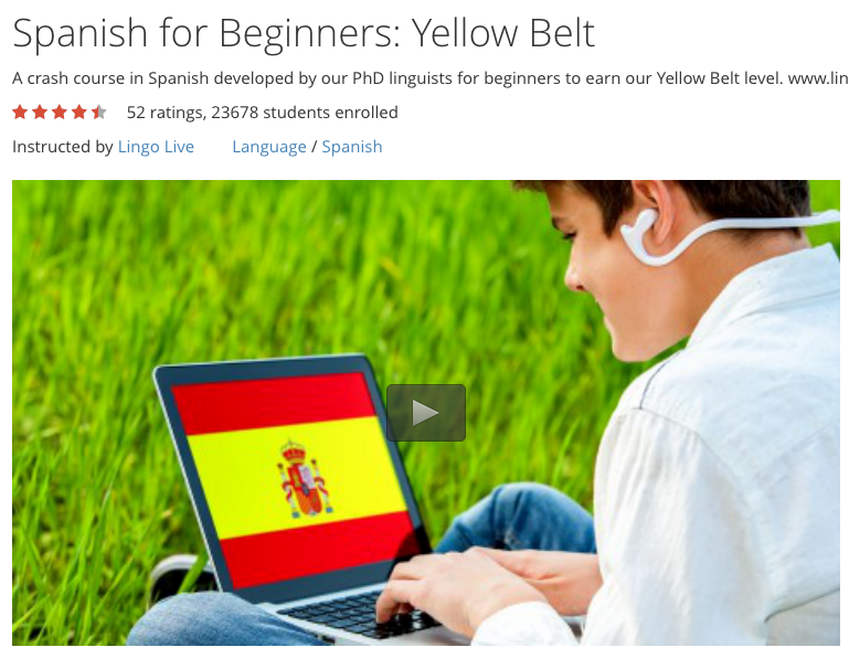 Free Course: Spanish for Beginners (Yellow Belt)