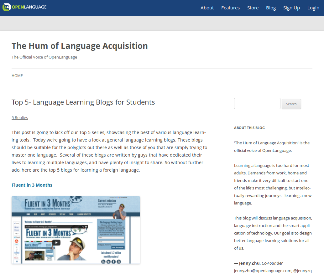 Top Language Learning Blogs of 2012
