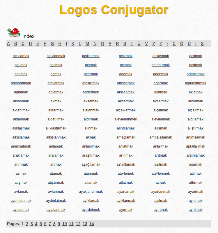 Free Online Turkish Verb Conjugation and Learning Conjugator
