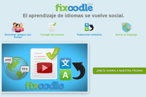 Fixoodle: Aprende Idiomas Gratis mientras Ayudas a otros Aprendices