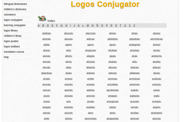 Free Online Basque Verb Conjugation and Learning Conjugator