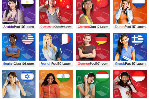 Learn 21 Languages with Free Podcasts plus Videos and iOS (iPhone + iPad) and Android Apps