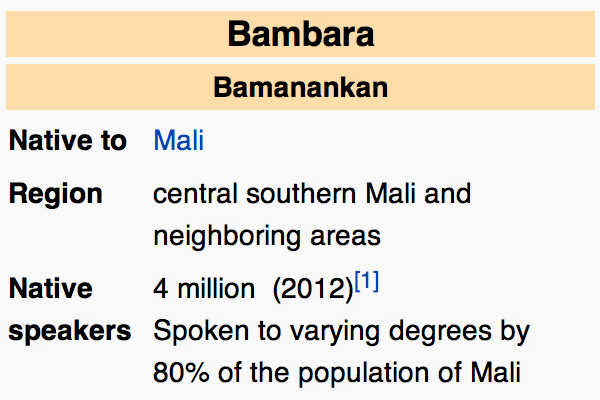 Learn about the Bambara Language